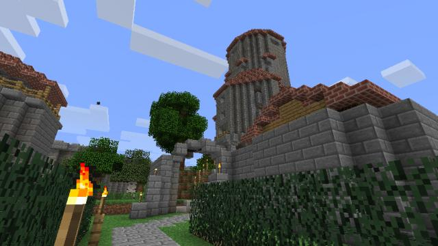 A view of the spawn castle